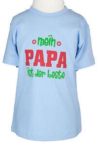 Kinder-T-shirt-Papa-ist-der-Beste-blau-86-bis-128