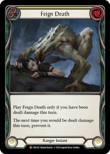 Flesh and Blood TCG NM Crucible of War 1x Feign Death