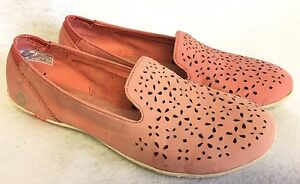 Merrell Women's Mimix Daze Perforated Slip-On Shoes Coral Orange Perf size 6.5