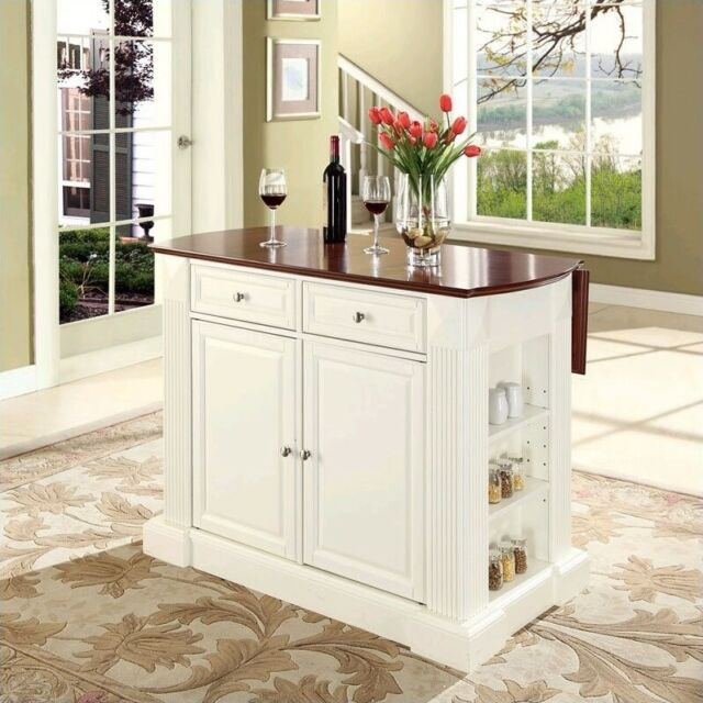 Crosley Coventry Kitchen Island Breakfast Bar in White