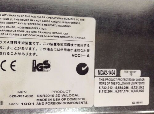AVOCENT 520-331-002 DSR2010 2D W// LOCAL 16 PORT CONSOLE LOT OF 2