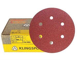 150-mm-Discos-de-Lijado-Papel-De-Lija-Klingspor-6-034-Lijadora-Orbital-hooknloop-6-agujero