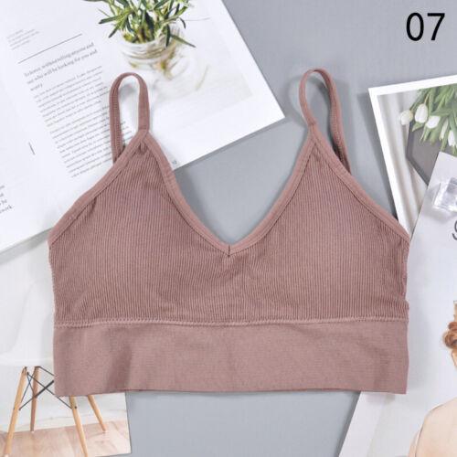 Women Seamless Underwear Fitness Yoga Sports Bra Stretch Workout Crop Top Vest Y