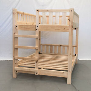 Unfinished Farmhouse Bunk Bed Twin Twin Wood Reclaimed Bunk Bed