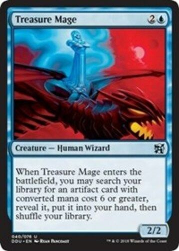 Inventors MTG Magic 4x Treasure Mage NM-Mint English Duel Decks Elves vs