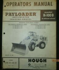 Ih International Hough Model H 100 B Payloader Tractor Operators Manual 1964 Oem