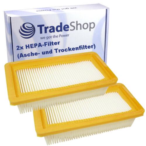 2x HEPA-Flachfalten-//Lamellenfilter für Kärcher  AD 3.000 EU-I AD 3.000 EU-II