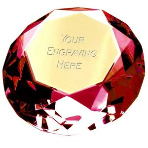 Ruby Wedding Gift Box : about Ruby Red glass paperweight in gift box anniversary wedding ...