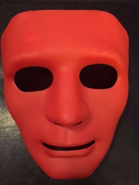 Blank Face Red Mask - Use It For Dress Up - Halloween - Cosplay - Your Choice!