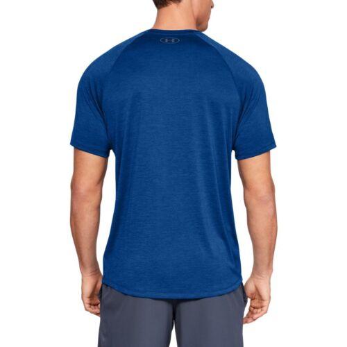 1326413-401 Under Armour Tech 2.0 T-Shirt Fitness Shirt Laufshirt T-Shirtblau