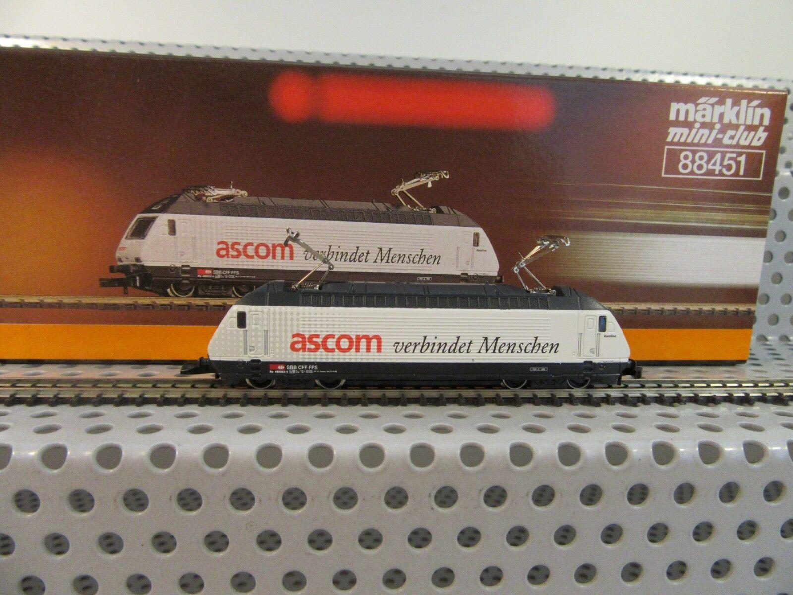 Traccia Z 88451 E-Lok elettrici Lok re 460 033-4 delle SBB  Ascom  analogico OVP