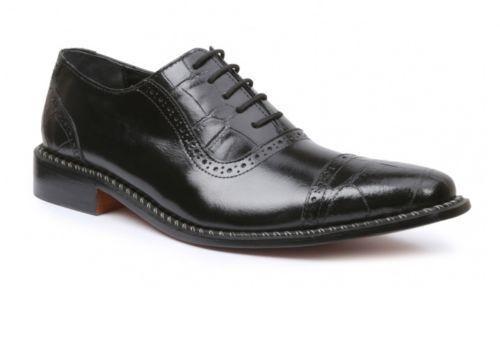 Giorgio Brutini Mens Castin Leather Lace Up Casual Oxford Shoe Black Sz 9-11