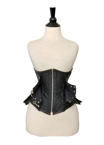 os noir buste acer et sous de 7xl 2x leather brocart véritable ~ Corset lacets gq6BB