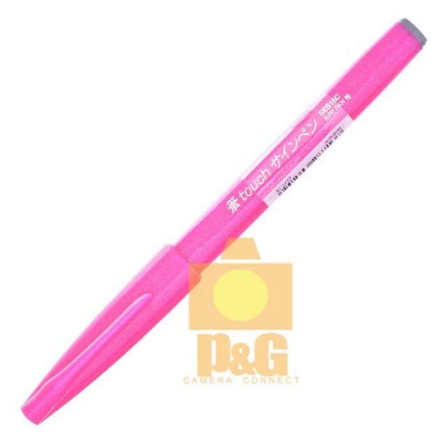 Pentel Pentel Fude Touch Brush Sign Pen SES15C Calligraphy Sketching Art / Pink
