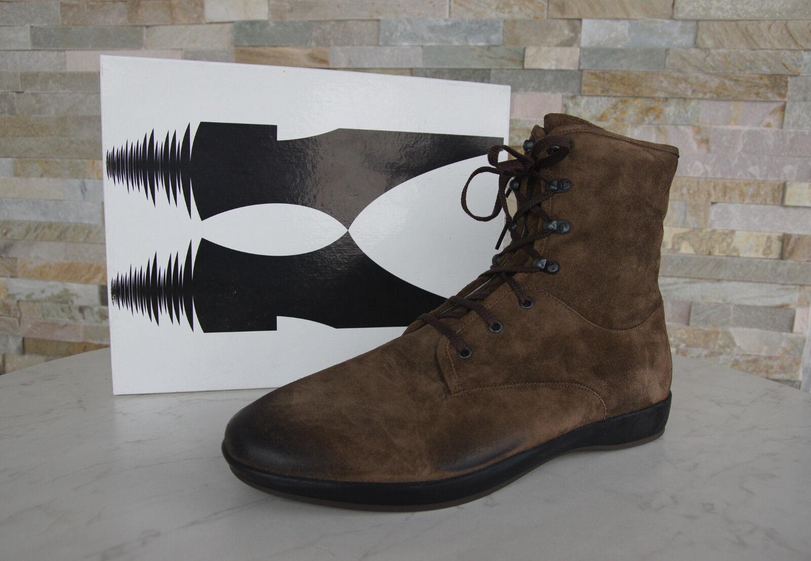Moreschi Piel Gr 46 12 Piel Moreschi Botas Vintage Zapatos Marrón Nuevo c6b5d4