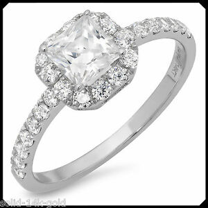 Rachel-1-50CT-PRINCESS-Diamond-Solid-14K-White-GOLD-Engagement-Wedding-Halo-Ring