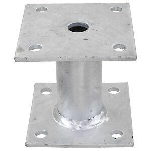 Pfostentraeger-feuerverzinkt-100x100-mm-aufduebelbar-100-mm-Rohr-GAH-Alberts-1-St