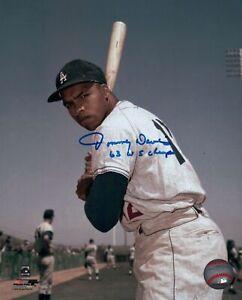 Tommy-Davis-Signed-8X10-Photo-034-63-WS-Champs-034-Autograph-LA-Dodgers-Pose-Auto-COA