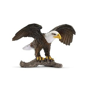 Schleich-Bald-Eagle-Animal-Figure-NEW-IN-STOCK-Educational