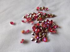 100 Diamanten Dunkel Rose Streuelemente Streudeko  Tischdeko   4 mm - Neu