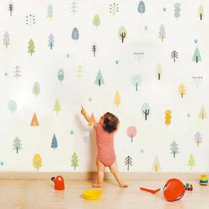 Forest-Tree-Woodland-Wall-Sticker-Nursery-Baby-Kids-Room-Vinyl-Mural-Wall-Decals