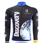 Discovery Men's Thermal Winter Cycling Jersey Long Sleeve Fleece Cycling Jacket