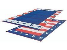 RV Patio Mat American Flag Awning Mat USA Camping Mat Trailer Outdoor Rug 8x20
