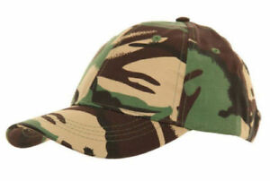 New Children/'s Army Camouflage Camo Camping Fishing Hat Cap Baseball Holiday Sun