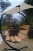 EX DISPLAY Wooden Hammock Chair & Garden Hanging Chair Stand Pennygreenfingers