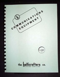 Details about Hallicrafters S-38C S38C Receiver Manual on