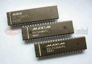Maxim ICL7129ACPL ICL7129 A//D CONVERTER DRIVER LCD Digitalvoltmeter DIP4 1//2 Dig