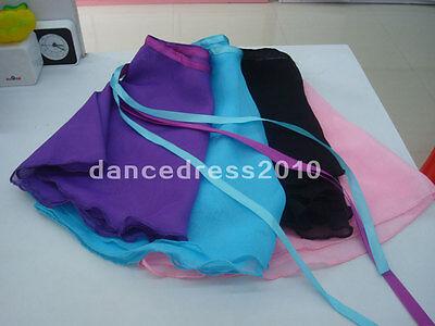 CHICTRY M/ädchen Ballett Wickelrock Kinder Chiffon Tanz Wickelrock Ballett-Rock mit Gummibund Tanz Kost/üm in Lila Blau Rosa Schwarz Wei/ß