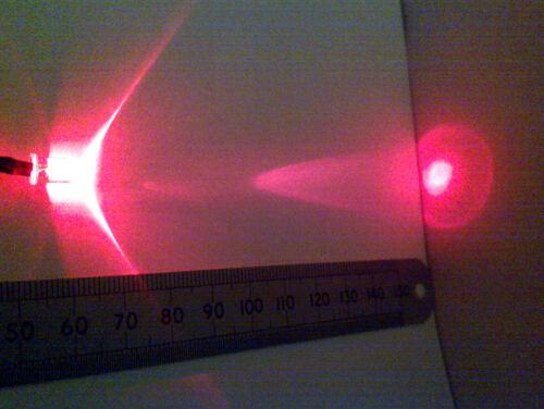 Qté 10 LED rouge 5mm 12v précâblé pour 12v avec résistance en ligne dix morceaux