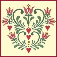 Rosemaling Pattern 15 Stencil- Swedish Kurbits - The Artful Stencil