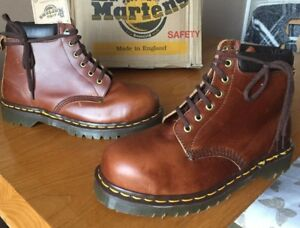 f04965145e6e6 Vintage Dr Martens brown boots UK 7 EU 41 Made in England steel toes ...