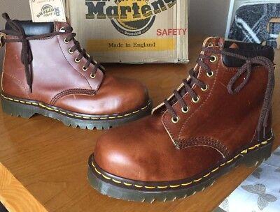 Discreto Vintage Dr Martens Stivali Marrone Uk 7 Eu 41 Made In England Acciaio Toes Escursionismo-mostra Il Titolo Originale Corrispondenza A Colori