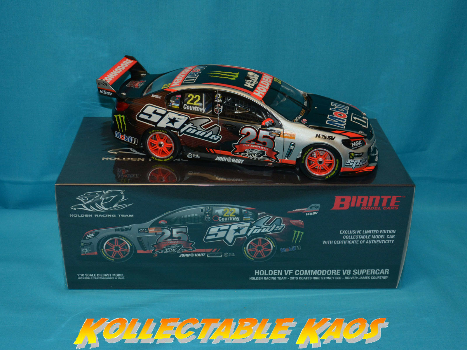 1 18 Biante - 2015 Sydney 500 - Holden VF Commodore - HRT -  22 James Courtney