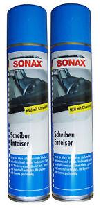 2 x SONAX Scheibenenteiser 400ml, Defroster, Sprühenteiser, Entfroster-Spray