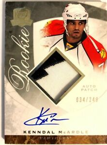 2008-09-Upper-Deck-The-Cup-Autograph-Patch-Rookie-Card-Kenndal-McArdle-RC-249