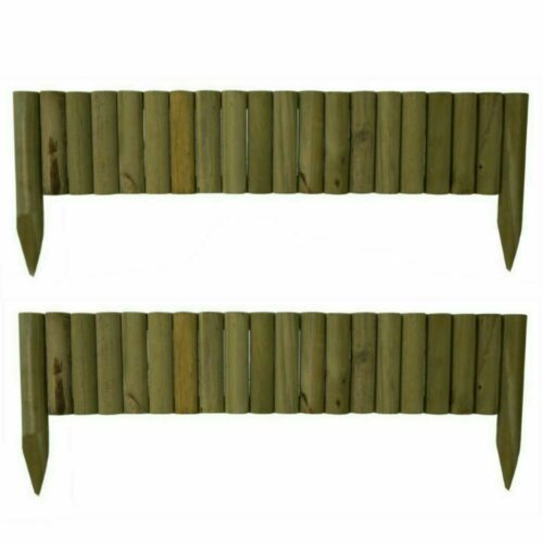 Pack of 2 Garden picket fence lawn Grass Edging Border Edging Panel WallFence 1M