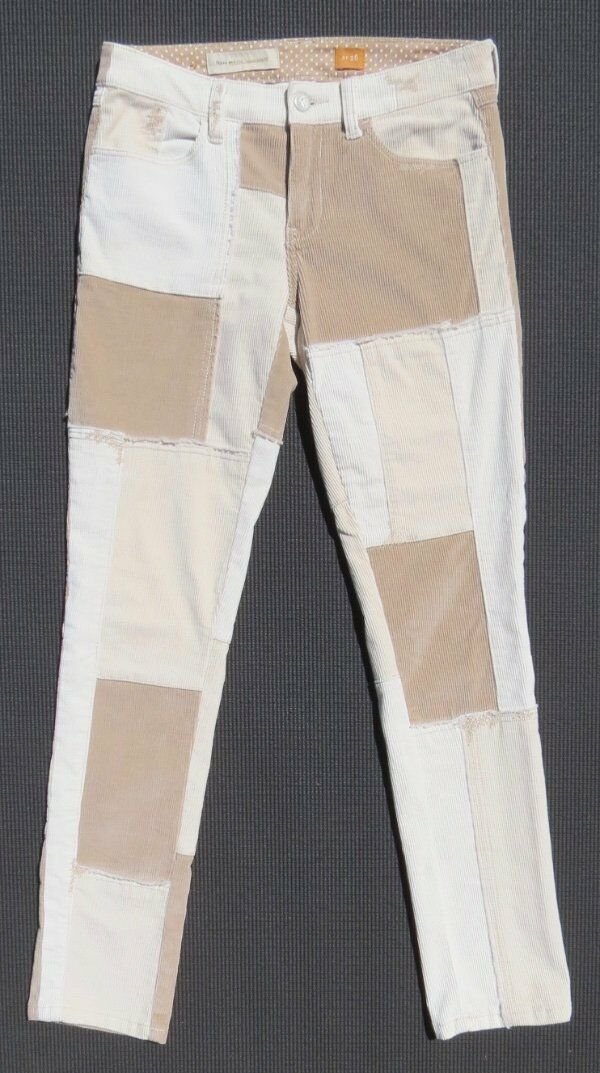 PILCRO and the letterpress Anthropologie Patchwork Corduroy Cords Jeans 26 2 EUC