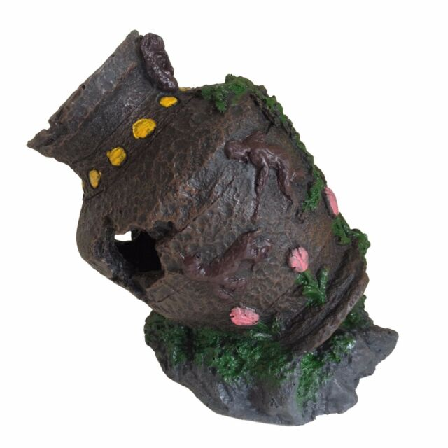 Aquarium Fish Tank Ornament Small Pot Ancient Decoration Ebay