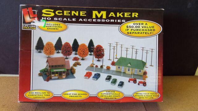 Amazon.com: Life-Like Trains HO Scale Building Kits ...  |Life Like Trains And Accessories