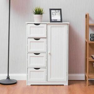 """32"""" White 4 Drawer Wood Bathroom Floor Cabinet Kitchen ..."""