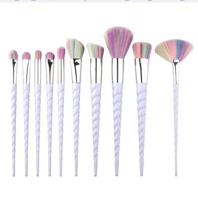 Makeup Brushes Unicorn Powder 10 Pcs Foundation Concealer 1 Set Blusher Face