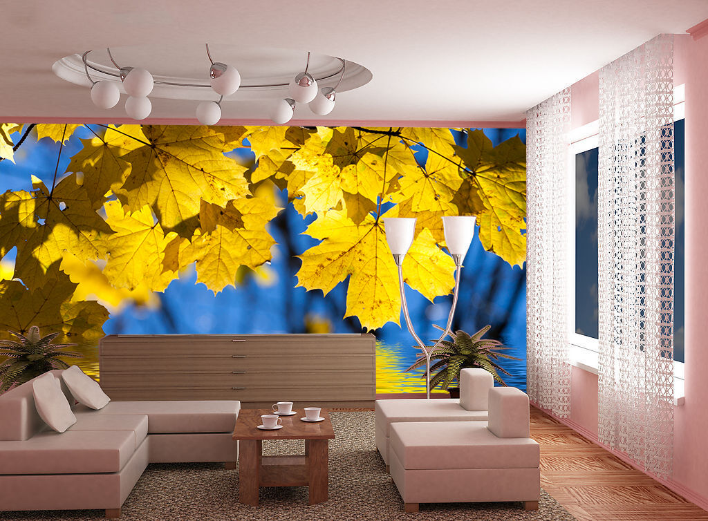3D Leaves Water Lake 3 Wall Paper Wall Print Decal Wall AJ WALLPAPER CA