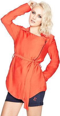 BCBG Orange Viscose Spring Jacket, Size M, NWT