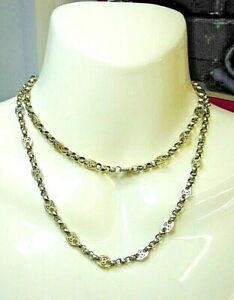 Antique 9 Carat Gold Victorian Long Chain