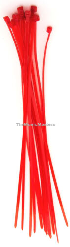 """200 Red 8/"""" inch Wire Cable Zip Ties Nylon Tie Wraps 50lb USA Made Tiger Ties"""