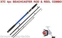 Sea Fishing Combo Fladen Xtc Travel Beachcaster Rod+fd70 Reel+line Cod Bass Pike